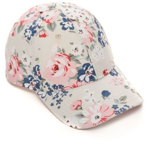 Bcbgeneration Whisper White Floral Baseball Hat ($18) ❤ liked on Polyvore featuring accessories, hats, whisper white, floral baseball cap, floral print baseball cap, floral hat, floral ball cap and white hat