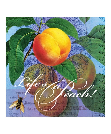 Take a look at this Lifes a Peach Wall Art by Potluck Press on #zulily today!