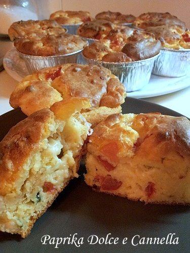 Muffin Salati con Pomodorini e Provola | Paprika Dolce e Cannella