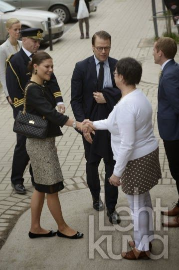 Crown Princess Victoria and Prince Daniel visited the Employment Service in Solna.
