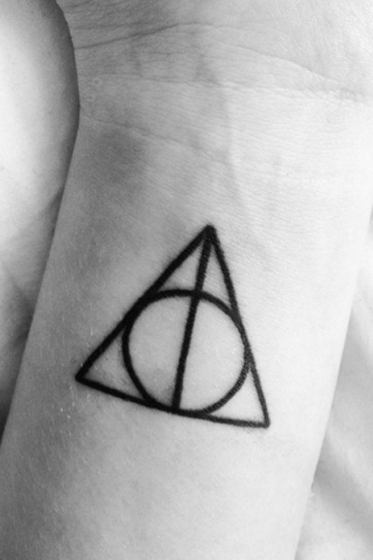 Small Harry Potter wrist tattoo