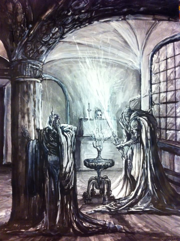 """Asterlaine's Betrayal"", by Jon Weber (2014) Ink on paper. #fantasty #art"