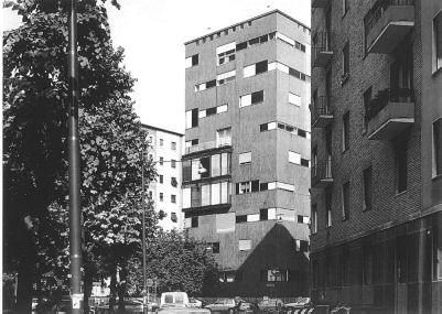 Luigi Caccia Dominioni Edificio residenziale di via Ippolito Nievo 28 a Milano, 1955 Foto di Paolo Rosselli
