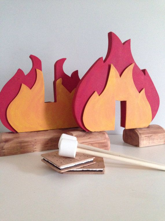 NEW Wooden Play Food Fire Pit S'more and by BYOImagination on Etsy