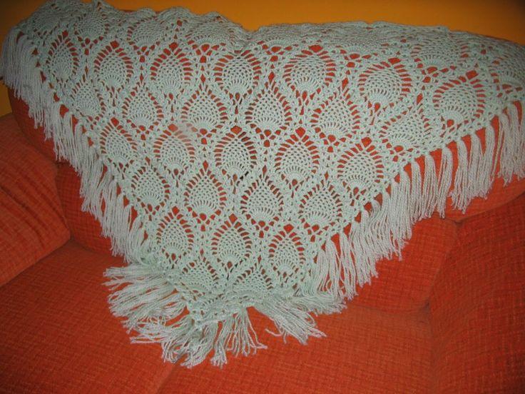 Chal de lana,hecho por mi(Rosario Bellón)