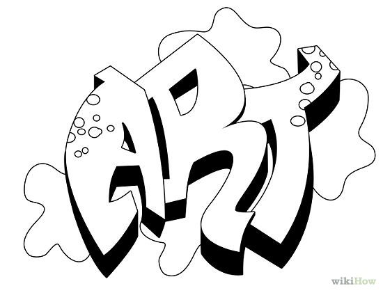 Draw Graffiti Names Hip Hop Coloring Book Compiled By Jamee