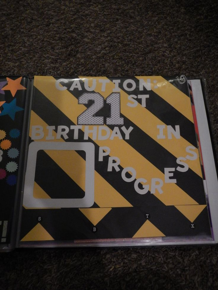 21st Birthday Shot Book- page ideas