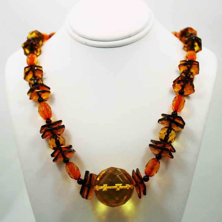 Baltic Amber Faceted bead necklace
