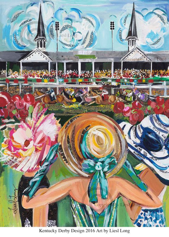 Kentucky Derby 2016 Print by ArtByLiesl on Etsy