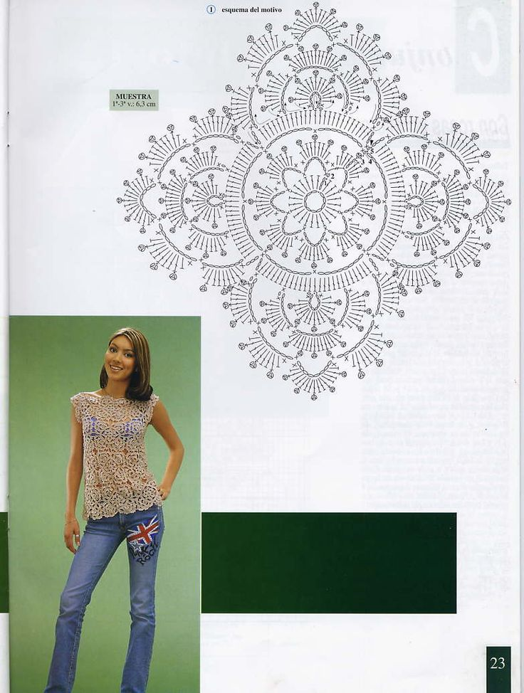 "Crochet square or diamond shaped motif to form a crochet shirt!   ""PERFEITO""http://1.bp.blogspot.com/-vo4YcClXejg/UHNeCCXKVyI/AAAAAAAC450/0z81fwLhzzk/s1600/File0019.jpg"