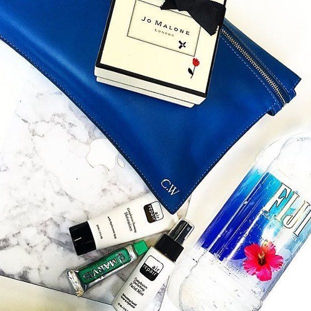 We love TV presenter @carissawalford travel essentials including air Repair Skin Care and Marvis toothpaste from OFFEN. #Marvis #airrepair #offenstore #carissawalford