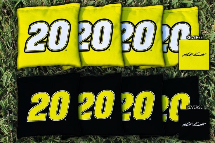 Set of 8 Replacement NASCAR Matt Kenseth #20 Cornhole Bags from TailgateGiant.com