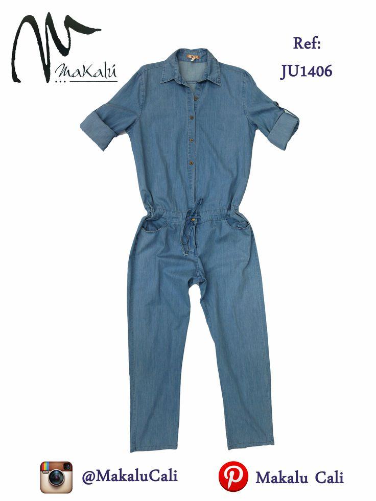 Enterizo en Jean para Mujer...  #Shorts #enterizo #indigo #makalucali #centrocomercialBahia #CentroComercialEltesoro #RopaAmericana #Cali #Colombia #ModaFemenina #tendencias #tiendasMakalu