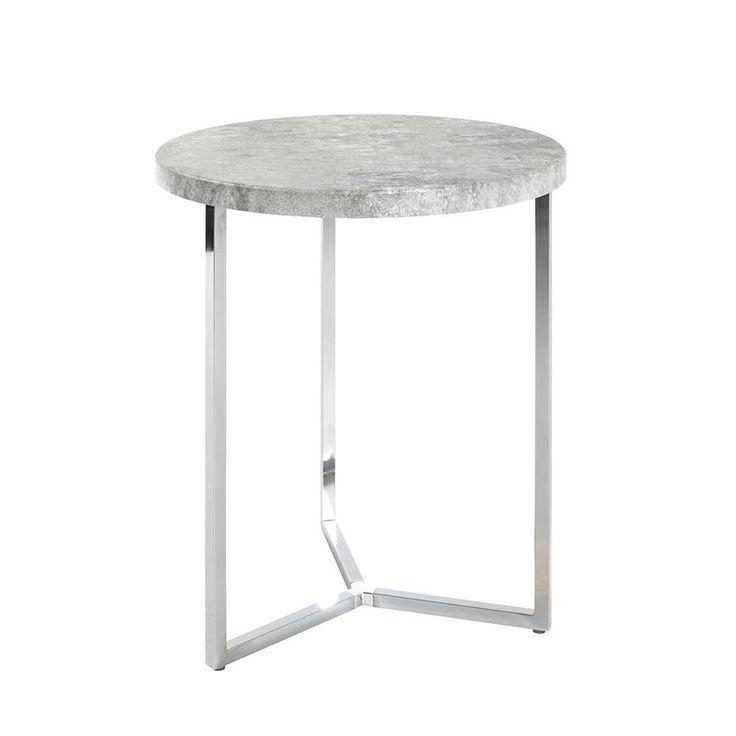 Runder Tisch In Beton Grau Modern Jetzt Bestellen Unter Moebel Ladendirek T Beistelltische Tisch Metalltische