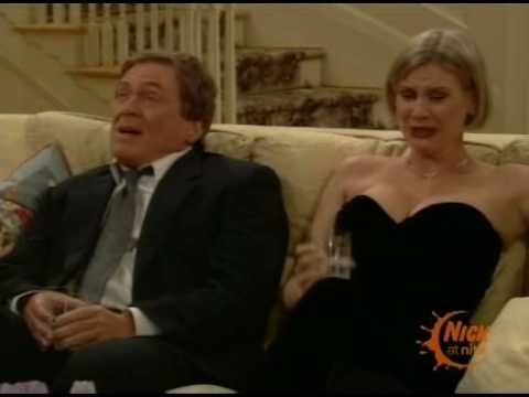 """I still remember how this scene from """"The Nanny"""" caught me off-guard.  Season 3 Episode 1 """"Pen Pals: Niles (Daniel Davis), Lauren Lane (C.C. Babcock), Fran Drescher (Fran Fine), and Charles Shaughnessy (Maxwell Sheffield)."""