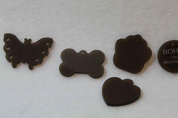 Personalized Engraved Lot Shape Pet Dog Cat Tag Id Acrylic Plexiglass