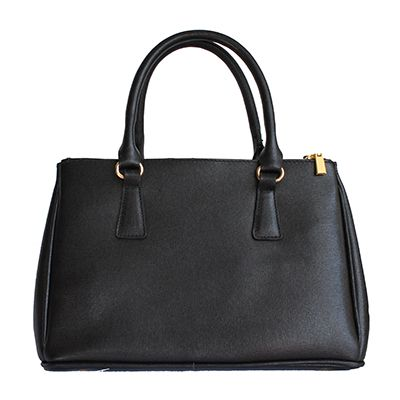 Black Leather Bowler Handbag - Down to £49.99 from £59.99