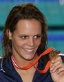 Laure Manaudou, #France, gold Women's 200 Backstroke, 2008 #European Championships