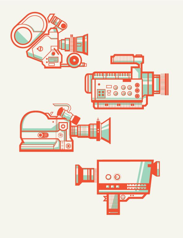 Camera Collection by Andres Eraso, via Behance