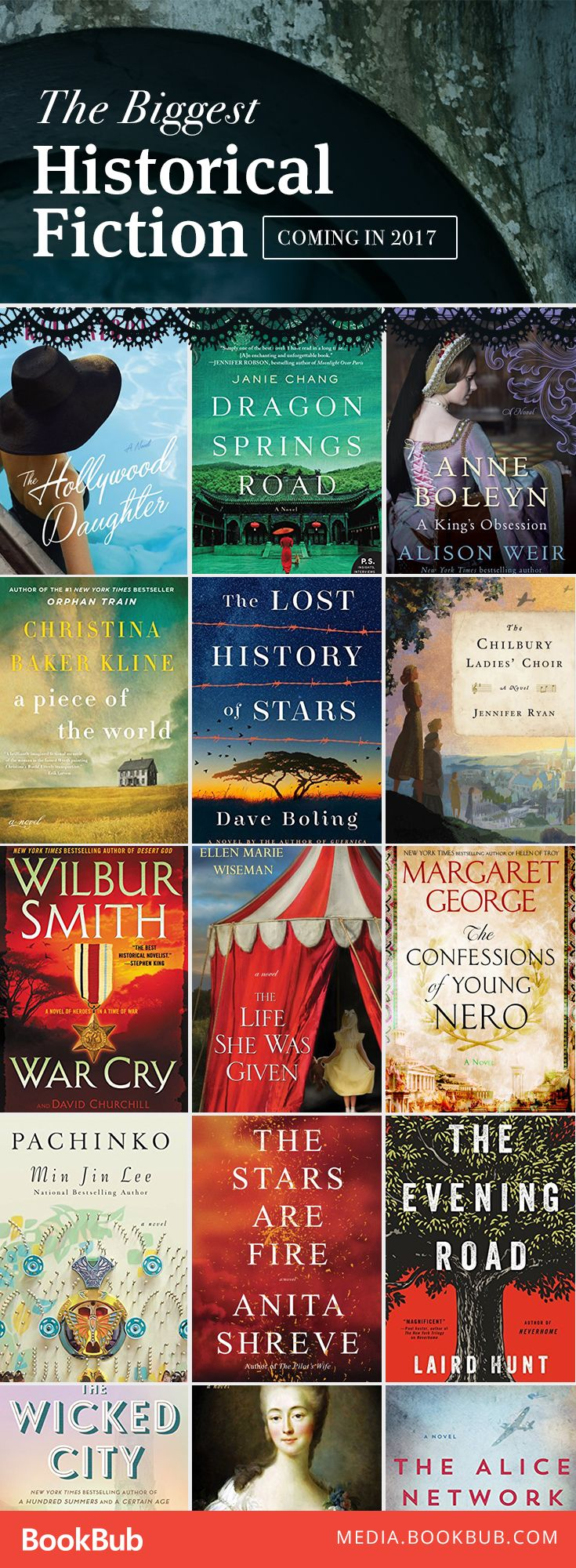 The Biggest Historical Fiction Booksing In 2017 Wilbur Smithalison Weirhistorical