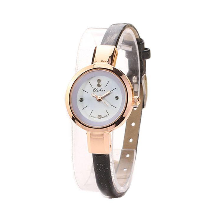 $1.06 (Buy here: https://alitems.com/g/1e8d114494ebda23ff8b16525dc3e8/?i=5&ulp=https%3A%2F%2Fwww.aliexpress.com%2Fitem%2FUltra-Thin-Leather-Strap-Watches-Fashion-Women-Bracelet-Dress-Watch-Ladies-Small-Dial-Quartz-Analog-Wristwatch%2F32597550554.html ) Fashion Women Bracelet Watches Leather Strap Small Dial Clock Quartz Analog Wrist Watch Luxury Women's Watches relogio feminino for just $1.06