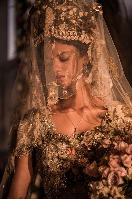 Velho Chico novela, figurino, Leonor (Marina Nery) vestido de noiva igreja
