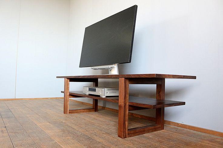 ウォールナットのテレビ台テレビボードローボードリビングボードハイタイプ無垢天然木製国産150cmJSKテレビボード150HIGH
