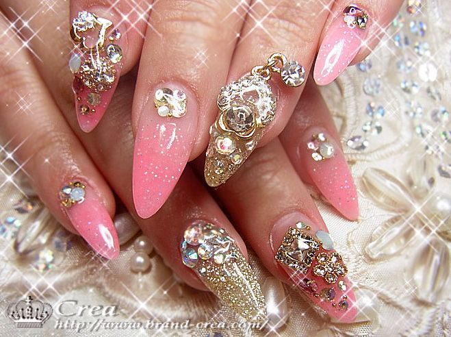 Best 25 bling acrylic nails ideas on pinterest bling for Acrylic nails salon