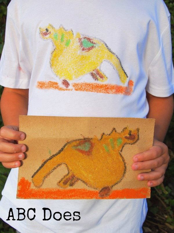 Image transfer using sandpaper #abcdoes