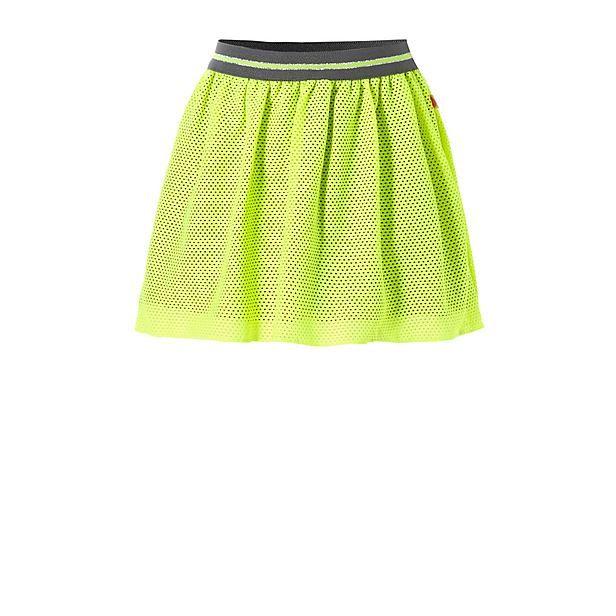 Opvallende fluoriserende meisjes rok van Like Flo #neon #geel #gaas