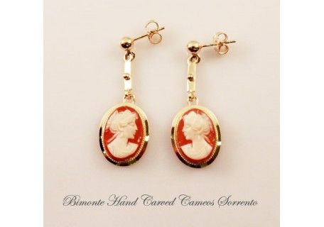 Traditional Cameo Earrings