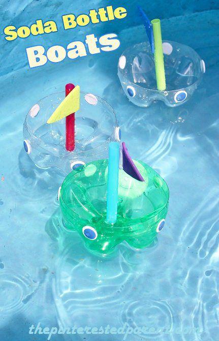 Soda Bottle Boats - sink them or float them. #science