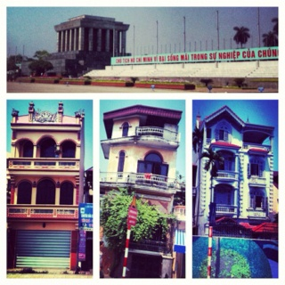 Typical Vietnamese house & Ho Chi Min Mausoleum #Vietnam #Cambodia #Southeastasia #trip #travel #tourism #arquitecture