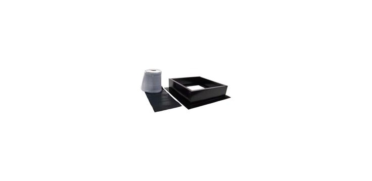 Attic Breeze AB-004 Curb Mount Roof Installation Kit Black Accessory Roof Curb