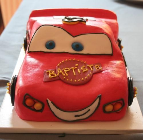 Gâteau CARS : Flash Mc Queen en 3D - La popotte de Manue