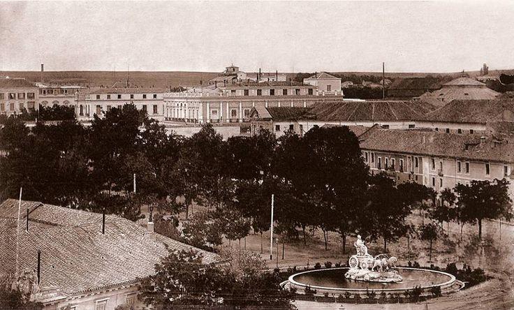 Imágenes del viejo Madrid. Plaza Cibeles. 1857.