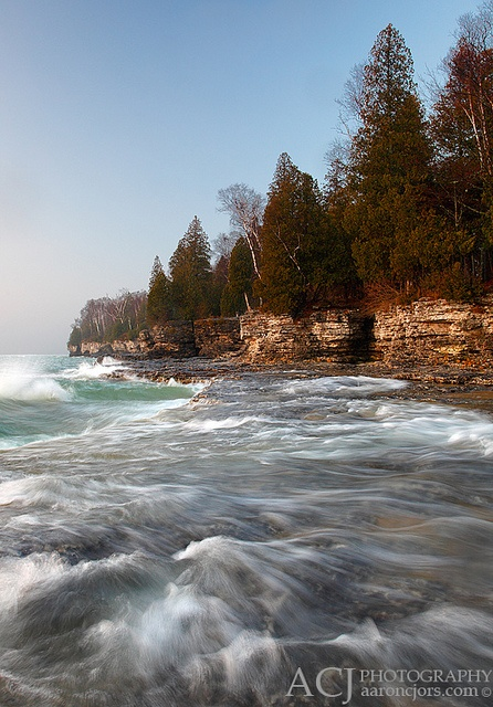 Washing Up Cave Point County Park Door County Wi By Aaron C