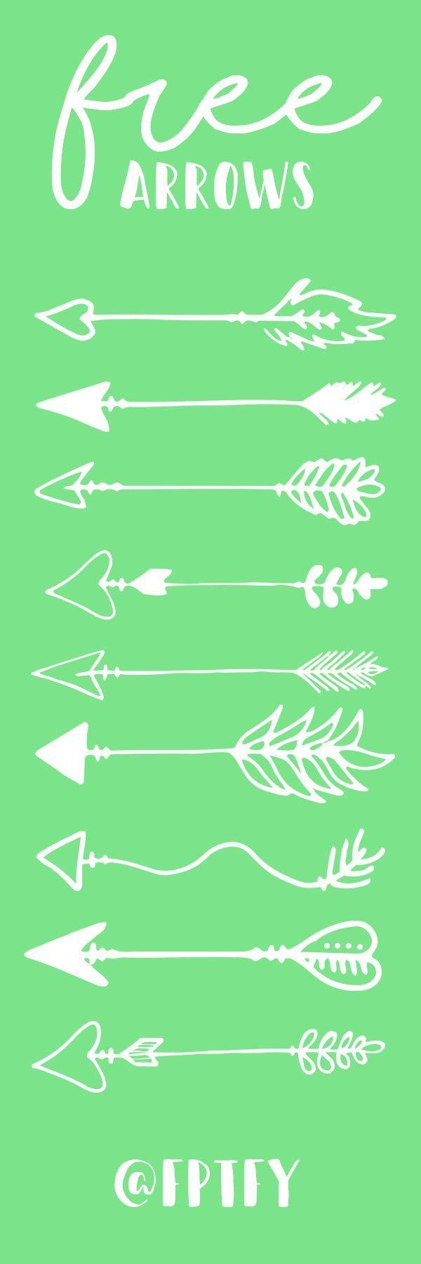 12 Hand drawn arrows