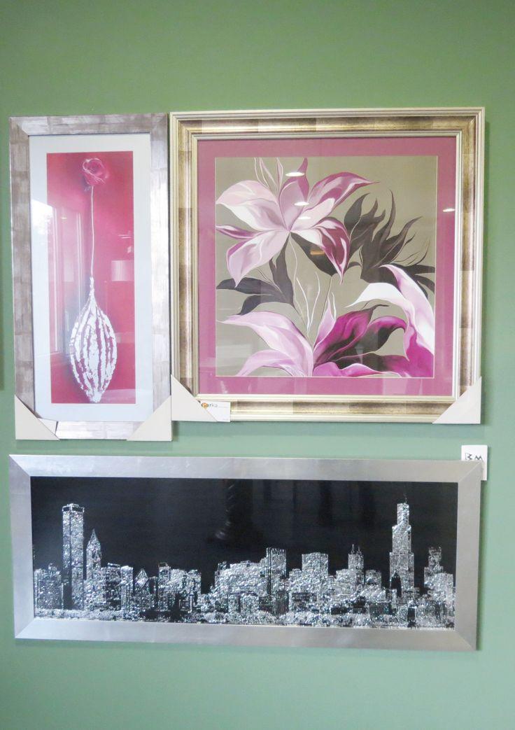 Cuadros decorativos  con motivos florales | Cuadro decorativo con la silueta de New York