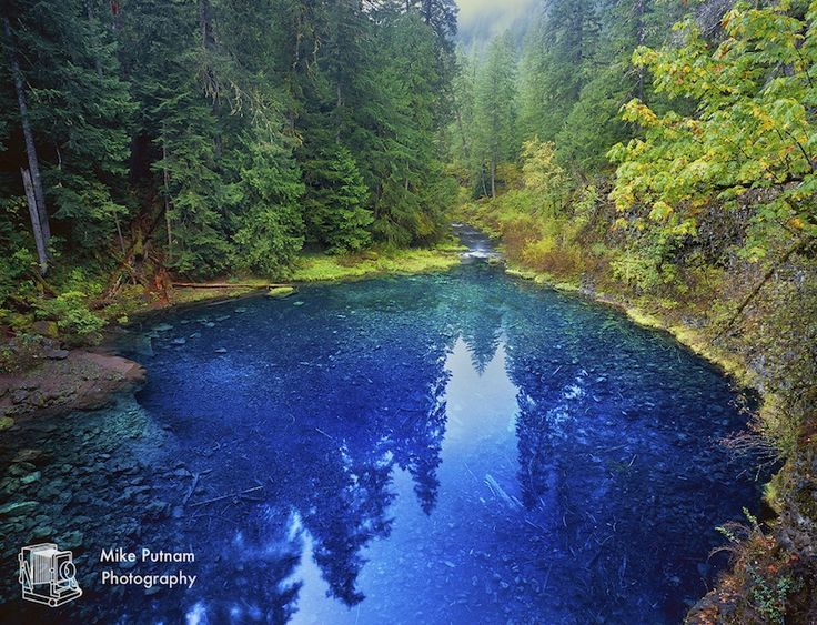 "The magical ""Blue Pool"" also known as the ""Tamolitch Pool"" on Oregon's McKenzie River.  www.mikeputnamphoto.com"