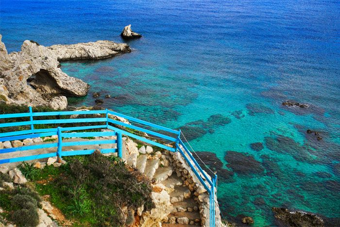 Stegna Beach, Archangelos, Rhodes Island, Greece. Пляж Стегна, Архангелос, о. Родос, Греция