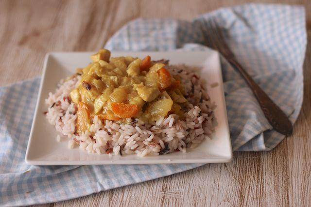 Pavo al curry con nueces