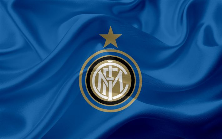 Download wallpapers FC Internazionale, Inter Milan, 4k, Italian football club, Serie A, Italy, football, blue silk