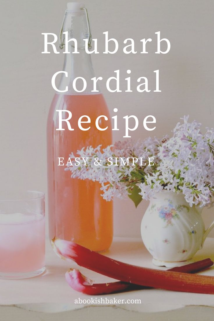 an easy and simple rhubarb cordial recipe. Delicious with water and ice or with prosecco.