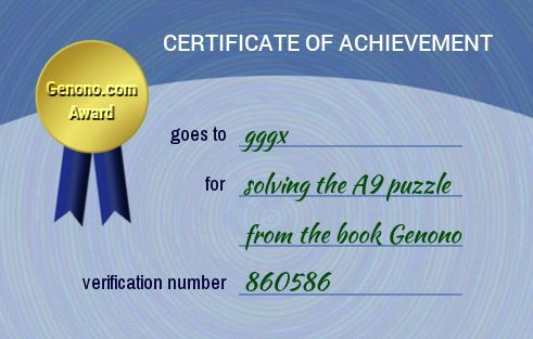 gggx has done the A9 puzzle. Do you think you can do it too?