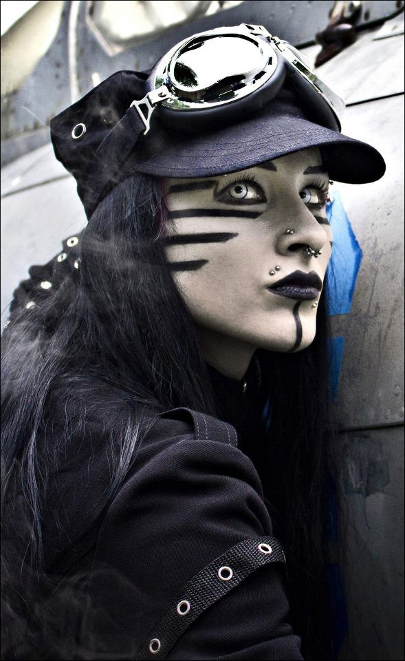 Hmm.. this one, I'm not quite sure about... post-apocalyptic, Industrial #Goth perhaps?