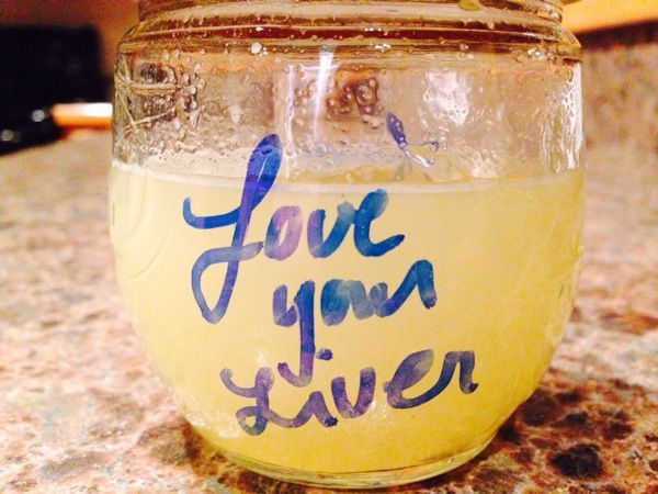 """gentle liver cleansing  Combine the strained juice of two organic lemons and three drops of high-vibration essential oil of peppermint in a half pint caning jar. (high vibration EO's is hippie-speak for the """"good stuff"""") Young Living Brand, Be Young or Doterra will do just fine. Pour yourself 1 tbs"""