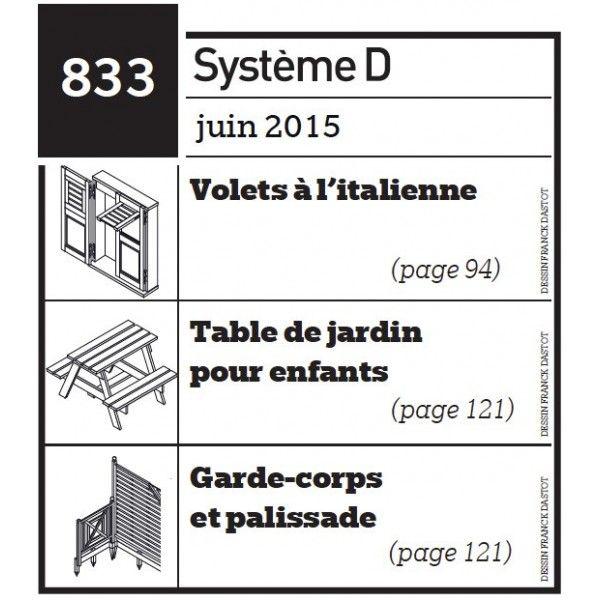 Volets à l\'italienne - Table de jardin pour enfants - garde ...