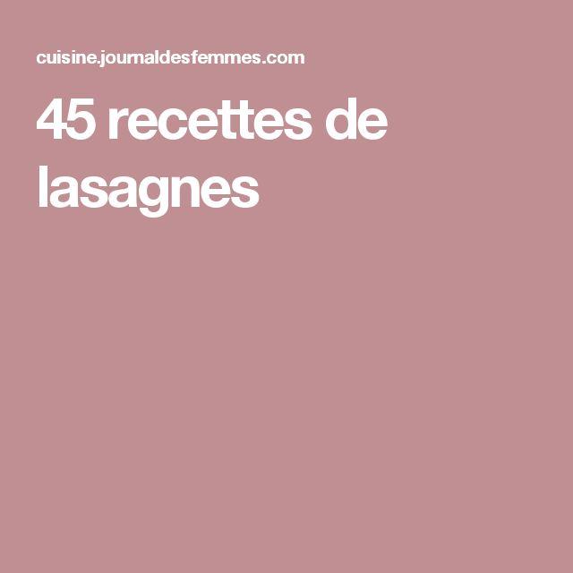 45recettes de lasagnes