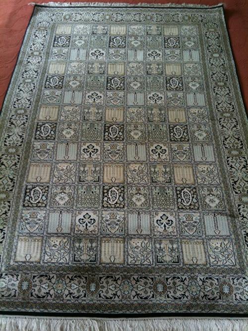 Silk On Silk Kashmiri Carpet